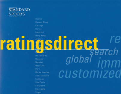 Ratingsdirect, Standard & Poor's