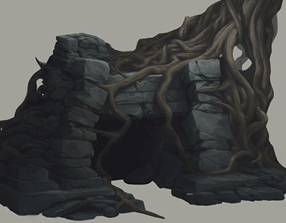 Concept Art: Rocks & Caves