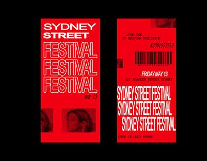 Sydney Street Festival Brand Concept