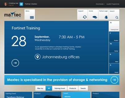 MaxTec Metro Website Design