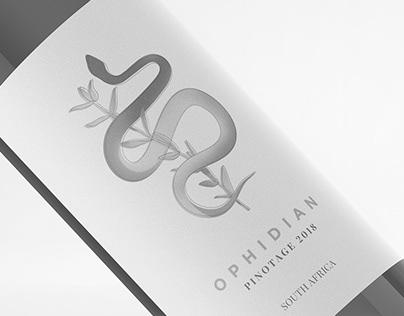 OPHIDIAN • Wine label