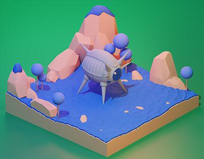 3D Kami's Namek Spaceship
