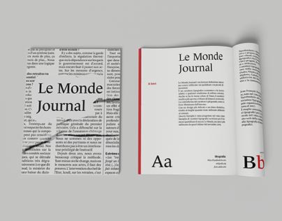 Type Specimen: Le Monde Journal