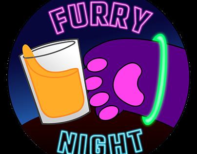 Furry Night badges