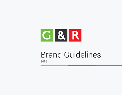 G&R Brand Guidelines, 2016