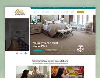 Homepage Design for Coles Fine Flooring