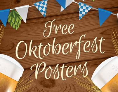 FREE OKTOBER FEST POSTERS