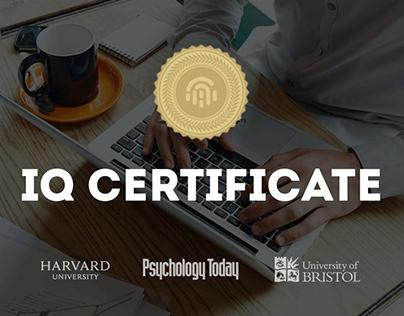 IQ Certificate