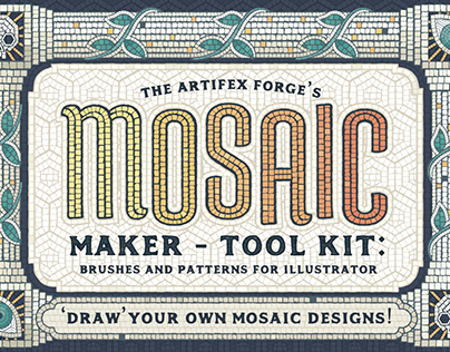 Mosaic Maker - Brushes and Patterns for Illustrator