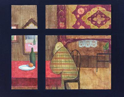 Window. Illustration.