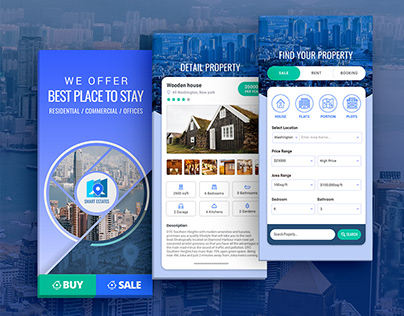 Real Estate Mobile Application Screen