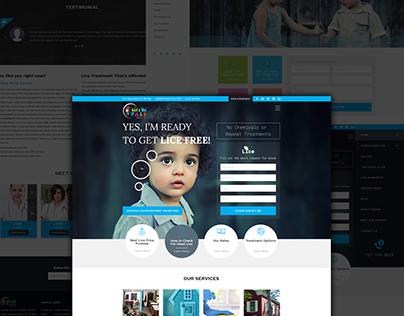 Lice Treatment Website Design