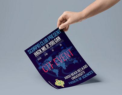 """Affiche d'événement """"CTF EVENT"""""""