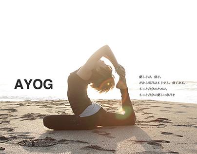 ヨガインストラクターakiのホームページ「AYOG」