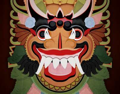 Garuda Mask Poster