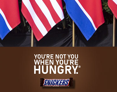 SNICKERS AD POSTER
