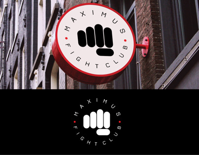 "Logo and brandbook for ""MAXIMUS"" fight club"