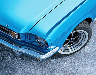 Mustang #3 - Maya Blue