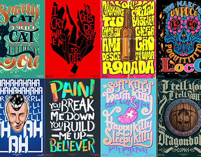 30 Days of Music Lyric Posters