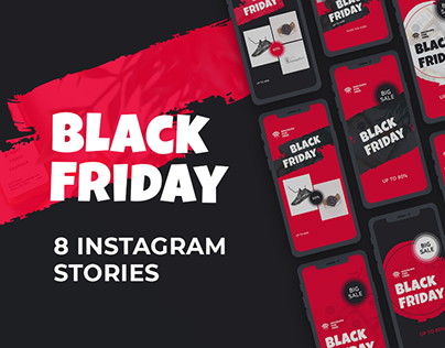 Black Friday Instagram Stories / Free PSD