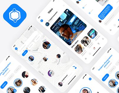 Mobile App Scipi Social Network