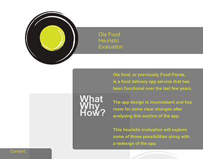 OLA Food/Food Panda Heuristic Analysis and App Redesign