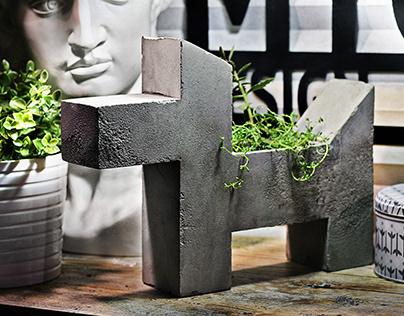 Кашпо для растений Concrete fantasy из бетона