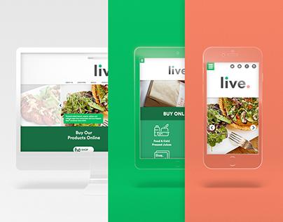 Live Organic Food Website