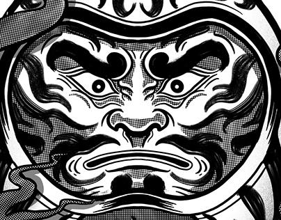 Daruma - Illustration