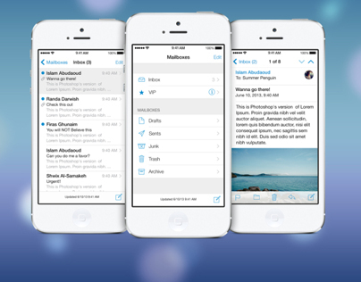Preview of iOS 7 Mail App