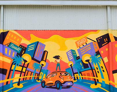 Renault Kwid Mural
