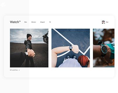 Watch retailer · Web design