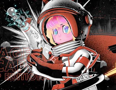 CCCP Rabbit Astronaut