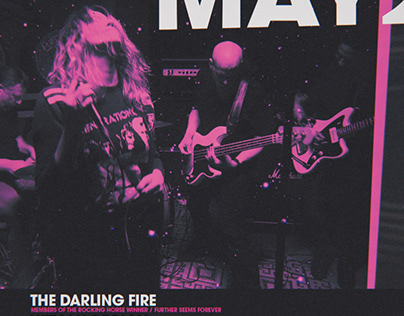 The Darling Fire Show Flyer Design