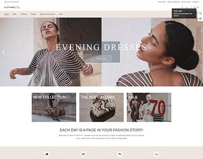 Clothing Brand with WordPress Theme