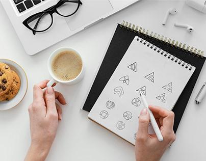 Logo Sketches | Logo Design | Hand sketch | Logo Folio
