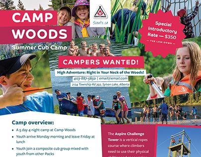 Camp Woods » Flyer Design
