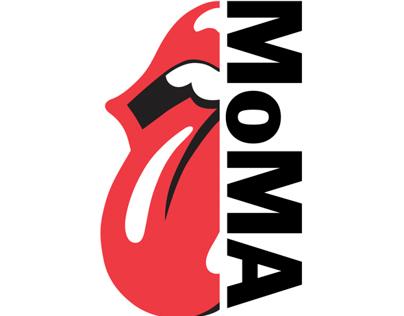 The Rolling Stones 50th MoMA Exhibit/Shop Logo Design