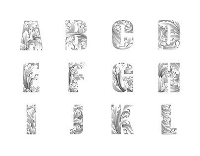 Ornament Design Alphabets Set