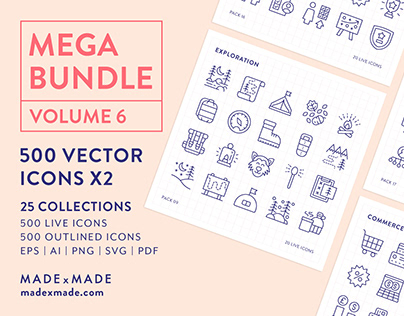 Line Icons – Mega Bundle Volume 6