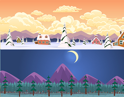 Cartoon parallax landscapes