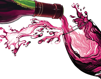 Wine Editorial Illustration