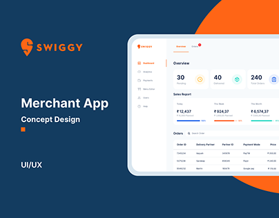 Swiggy Merchent App - Concept design