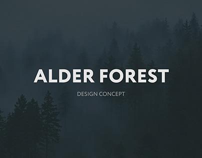 ALDER FOREST WEB DESIGN CONCEPT
