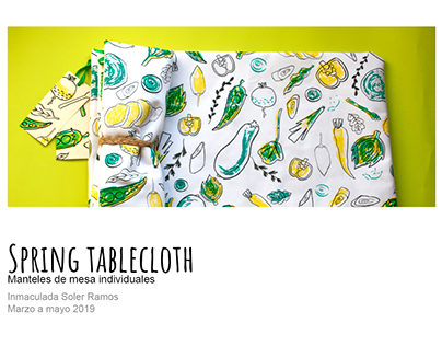 """""""Spring tablecloth"""": serigrafía en tela"""