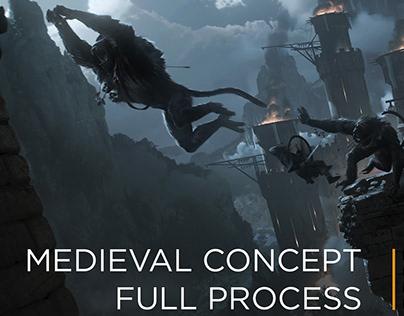 Concept Art Full Process | Medieval Scene | Tutorial