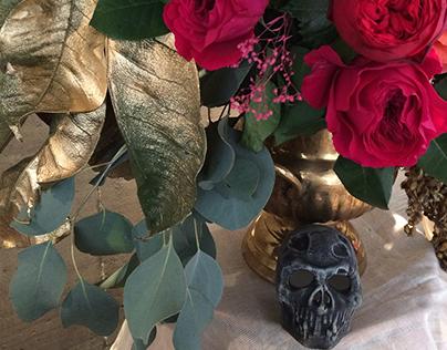 Fotografías Rosas en Halloween