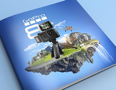GoPro 8 advertisement manipulation - action camera