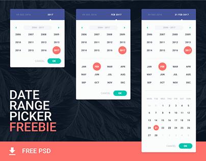 Date Range Picker (free psd)