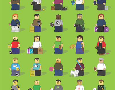 Lego Poster: Versions of friends
